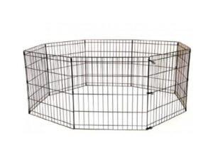 Sort kanin løbegård indendørs - indendørs kanin kravlegård 76 eller 60 cm højt