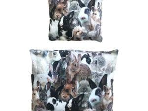 økologisk sengetøj til kaninseng med crazy rabbits