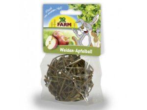 kanin aktivering med fletbold af piletræ med æblestykker i