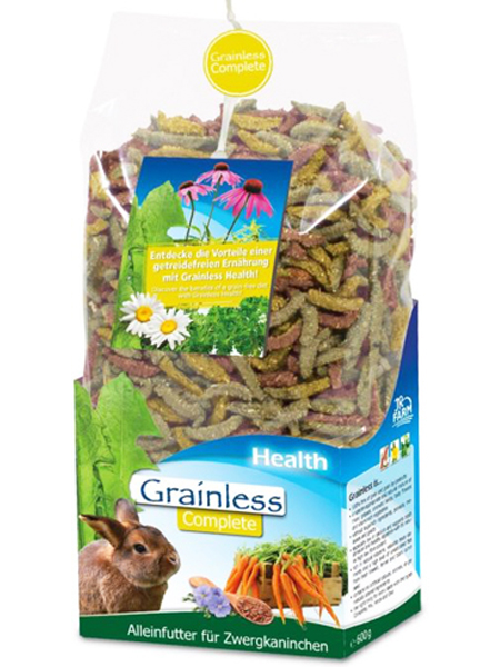 kaninfoder test Grainless health complete foderpiller