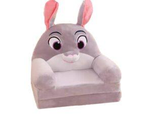 Grå kanin sofa som kan slåes ud. Sofa til kanin i alle størrelser. Super sød kaninting