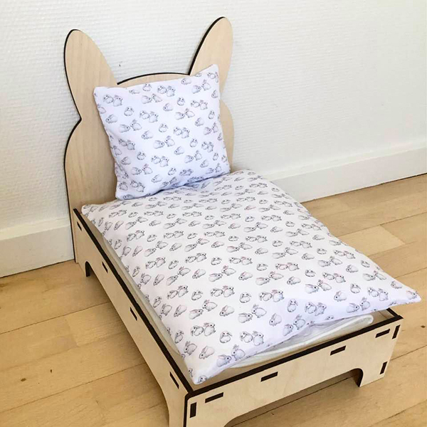 seng til kanin hvid