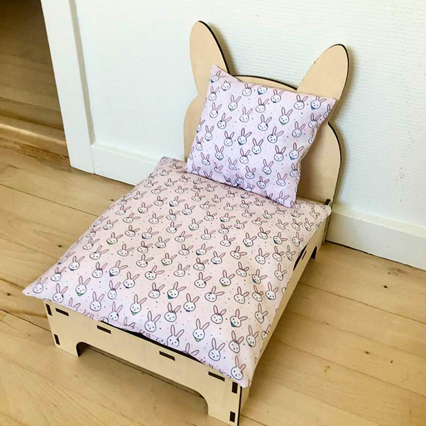 seng til kanin lyserøde